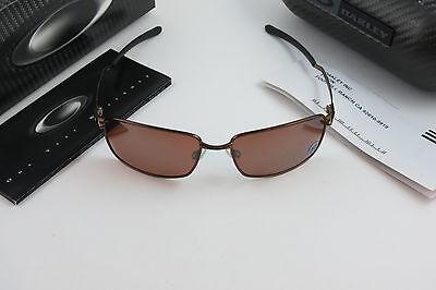 183fb0bfb3e Oakley Nanowire 4.0 Burnt Copper Vr28 Black Iridium Polarized+Hard Case Box  NEW
