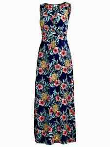 Fat Face Bea Pineapple Punch Maxi Dress, Navy Size 12 Worn Once - Mint