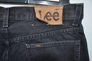 Vintage Lee Kansas Noir Jeans Taille W 36 L 30 * Bon Marché *-afficher Le Titre D'origine