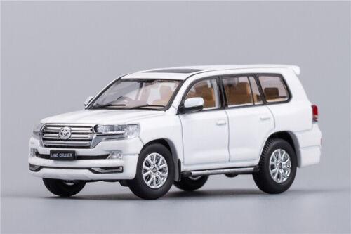 Preorder GCD 1:64 Toyota Land Cruiser 200 Black//White Diecast Model Car