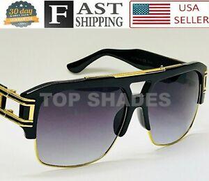 Men/'s Fashion Oversized Square Aviator Large Metal Bar Designer Mach Sunglasses