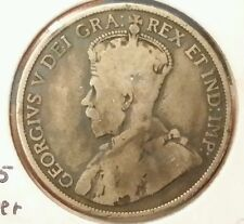 1912 Canada 50 Cents .925 silver - Rare, Only 285,867 minted
