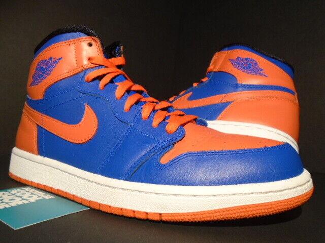 NIKE JORDAN RETRO 1 alta I AIR Original Nueva York NY Knicks Real Azul Naranja blancoo 10