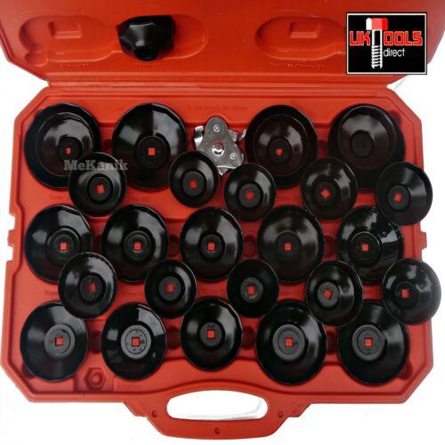 """30pc huile filtre remover clé set universel 28 cannelures tasses 65-108mm 1//2/"""" /& 3//8/"""""""
