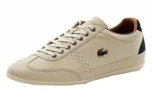 Lacoste-Men-039-s-Misano-34-Fashion-Off-White-Sneakers-Shoes-Sz-13