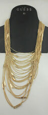GUESS Multiple Chain/Rectangle Link STATEMENT Layered Tiered Necklace Retail $44