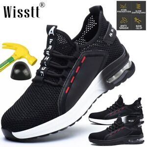 Mens Womens Steel Toe Cap Shoes Indestructible Safety Shoes Cushioned Non-Slip