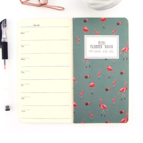 24 Blätter Kaktus Flamingo Kirsche Planer Notebook To Do Liste Schulbedarf
