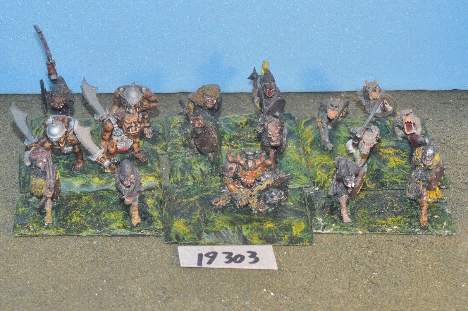 Fantasy Sigmar   - orc ork warriors 17 metal citadel Warhammer - (19303)