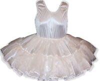 Custom Fit White Full Slip For Adult Lg Baby Sissy Dress Up Leanne