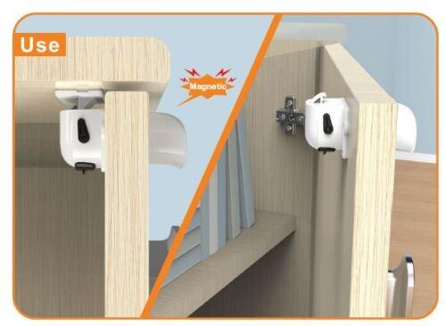 1 Key 1 installer Stickman/'s Child Safety Magnetic Locks 4 Locks