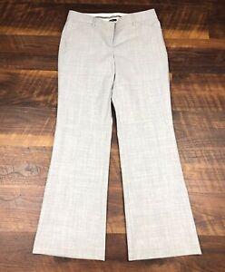 Express-Design-Studio-EDITOR-Light-Gray-Flare-2S-SHORT-Career-Womens-Dress-Pants