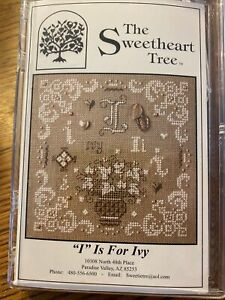 I Is For Ivy Cross Stitch Kit Sweetheart Tree Retired 28 Count Linen Sealed