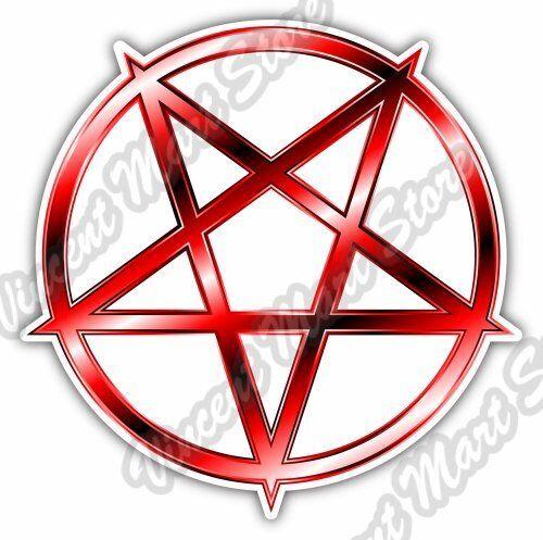 Pentagram Symbol Church Satan Devil Car Bumper Window Vinyl Sticker