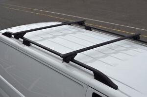 Black-Cross-Bars-For-Roof-Rails-To-Fit-Isuzu-D-Max-2012-100KG-Lockable