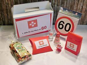 geldgeschenk geschenk lustiges erste hilfe set f r m nner zum 60 geburtstag ebay. Black Bedroom Furniture Sets. Home Design Ideas