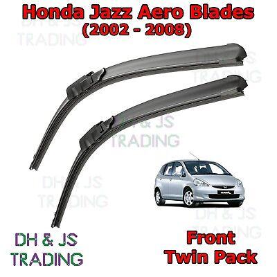 Front /& Rear Windscreen Wiper Blades HONDA Jazz MK2 2002/>2008