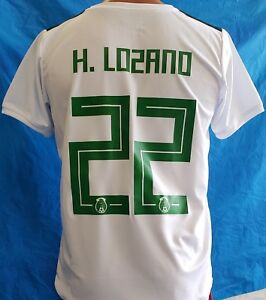 new style 87e44 34361 Details about New! White Jersey Lozano # 22 Mexico Home Soccer Jersey 2018