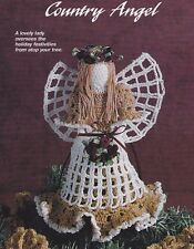 Crochet Pattern ~ COUNTRY ANGEL Christmas Tree Topper ~ Instructions