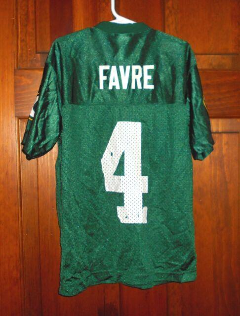 BRETT FAVRE Green Bay Packers #4 NFL Vintage Football Jersey Kids