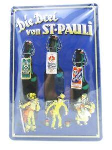 Blechschild-St-Pauli-Bier-Metall-Schild-30-cm-Nostalgie-Metal-Shield-Neu