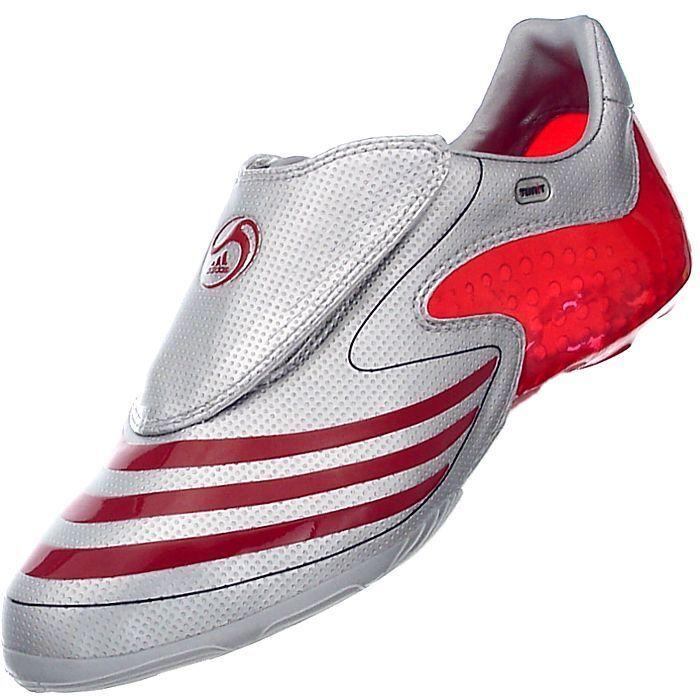 Adidas F50.8 Tunit súperior plata rojo para el zapato de la Serie No Completa Tunit