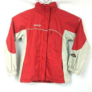 Columbia-Titanium-Omni-Shield-Jacket-Womens-Size-M-Red-Waterproof-Breathable-Ski
