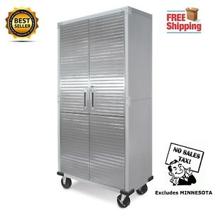 Delicieux Image Is Loading Metal Rolling Garage Tool File Storage Cabinet Shelving