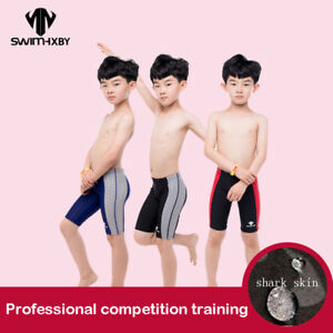 4478b969f6 Image is loading Boy-Swimwear-Competition-Training-Children-039-s-Swimsuit-
