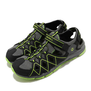 Merrell-Hydro-Quench-Black-Green-Grey-Kid-Preschool-Water-Sandals-Shoes-MK263196