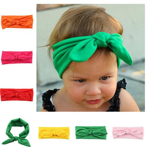 Nettes Kid Tuch Stirnband Bowknot Headwear Kinderkopfschmuck Kaninchen Ohr Bogen