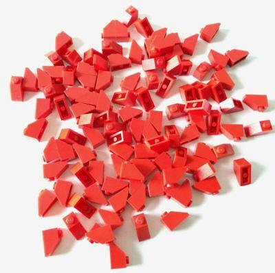 Lego 100x Brick Slope Curvi Inclinati 1x2 Rosso Lotto Kg Sped Gratis Su+acquisti