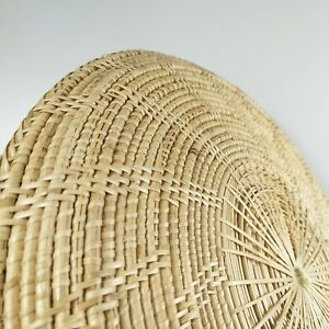 Details About Wall Art Round Weave Rattan Tray Natural Handmade Basket Home Decor Boho Farm
