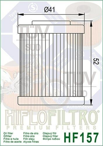Filtre à huile HIFLO hf157 s/'adapte à KTM lc4 625 660/'03 690 07-11 Quad XC 450 525