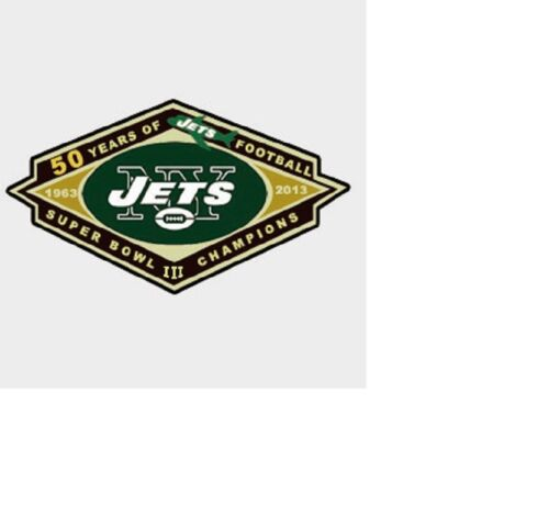 NEW YORK JETS 50TH ANNIVERSARY SUPER BOWL III CHAMPIONS 19632013 VERY SCARCE!
