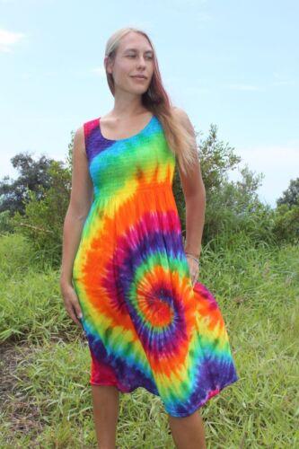 Tie dye Rayon tank dress Sizes Small Through 2X