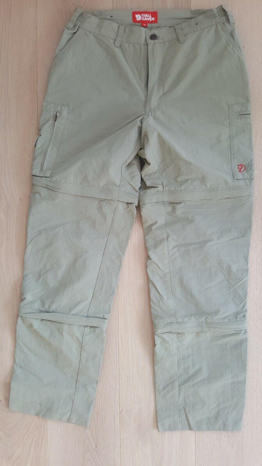 Fjallraven Hiking Pants Zip Off Trekking Trousers Womannen's afmeting EU 38
