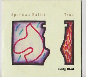 SPANDAU-BALLET-PROMO-CD-ALBUM-TRUE-THE-DAILY-MAIL-NEWSPAPER