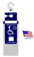 Florida Handicap Placard Holder & Protector. Sturdy Hook- On & Off In A Snap.
