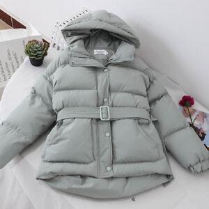 Park Polstret Frakke Color Belt Kvinder Solid Outwear Varm Hooded D169 Chic Talje TqwHFT07