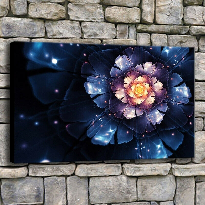 Fractal Fairy Flower Lily 1 Piece Canvas Print Wall Art