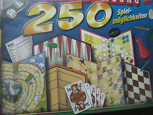 Spiele-Sammlung-250-Spielmoeglichkeiten-Dame-Muehle-Wer-hat-die-6-Yatzy-uvm-NEU