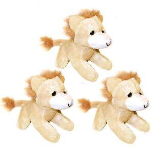 3 small lion soft toys plush stuffed safari jungle animals ebay