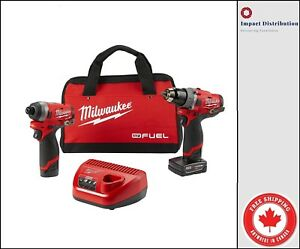 Milwaukee-2598-22-M12-FUEL-12V-GEN-II-Combo-Hammer-and-impact-Kit-with-Battery