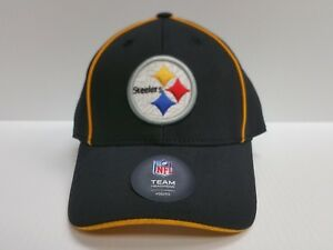 8b7c05014 Image is loading YOUTH-Pittsburgh-Steelers-Cap-Team-Apparel-Stretch-Fit-
