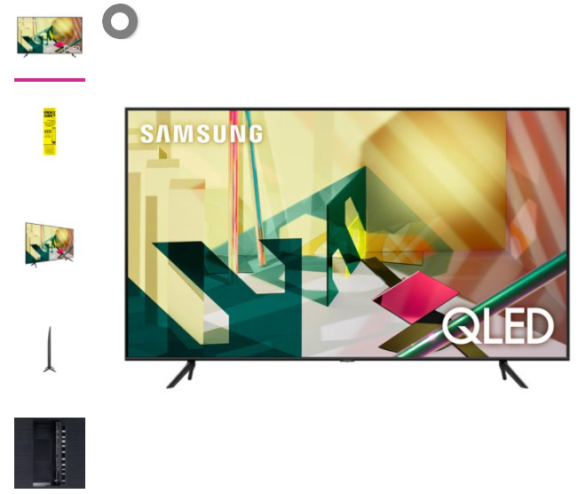 """SAMSUNG 75"""" Class 4K Ultra HD (2160P) HDR Smart QLED TV QN75Q70T 2020. Available Now for 997.00"""