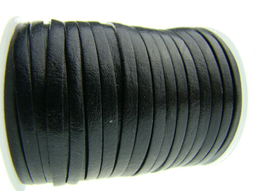 Flach 3 x 1 mm Lederriemen Lederband ab 1,08€//m Länge//Farbe: wählbar