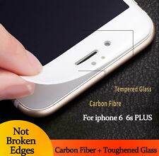 3D Curved WHITE Full Cover Tempered Glass Screen Protector For iPhone 6 6s
