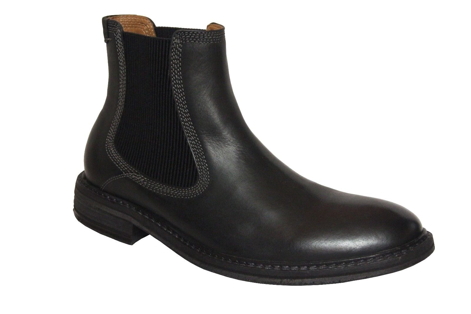 G.H. Bass & CO Men's Hendrick Black Leather Chelsea Boots