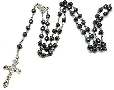 Infinity Cross Necklace Chain Silver Jesus Crucifix Jewelry Gift Women Girls UK